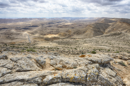 View of the Big Crater (HaMakhtesh HaGadol) in Israel