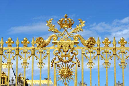 Main gate of versailles. Paris, France. Fragment. Stock Photo