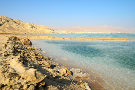 View of Dead Sea in the morning. Southen Israel.