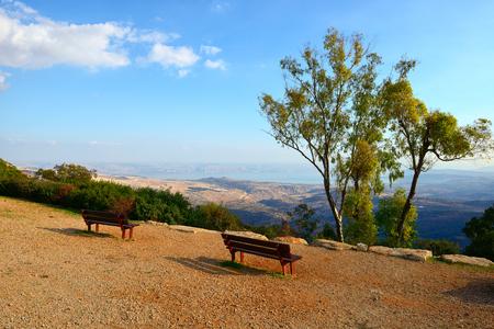 산, 북 이스라엘에서 갈릴리 바다 (키 네 렛 호수)의 전망.