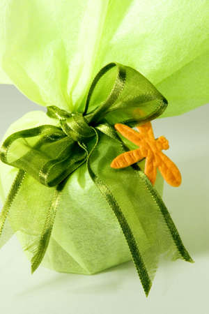 Gift in green packing photo