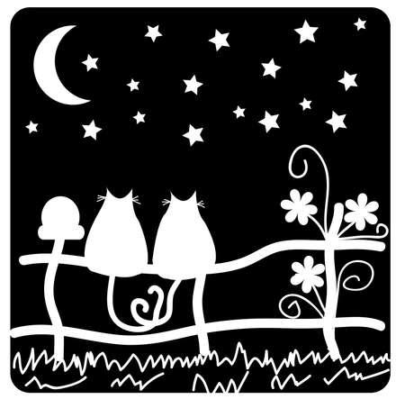 In love cats Stock Vector - 12162197