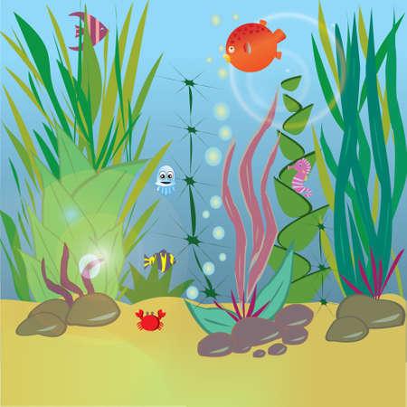 aquatic reptile: sea life Illustration