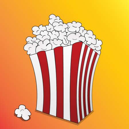 cinematograph: las palomitas de ma�z cuadro Vectores