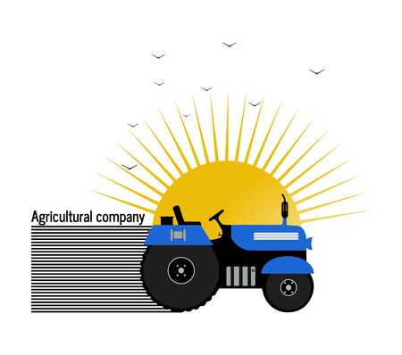 Tractor, agricultural company on white