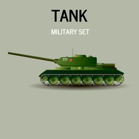Military Tank.Vector illustration war kill