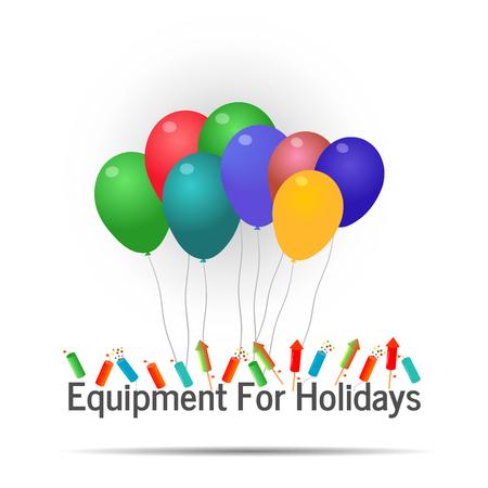 Vector illustration of equipment for holidays logo