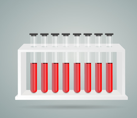bulb for blood sampling clinical reaction background Stok Fotoğraf - 124012632