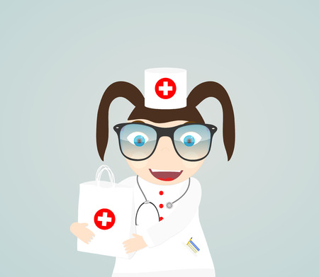 Vector illustration of a doctor vector healthcare medic profession