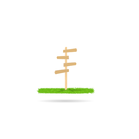 Wooden direction sign texture path icon grass symbol