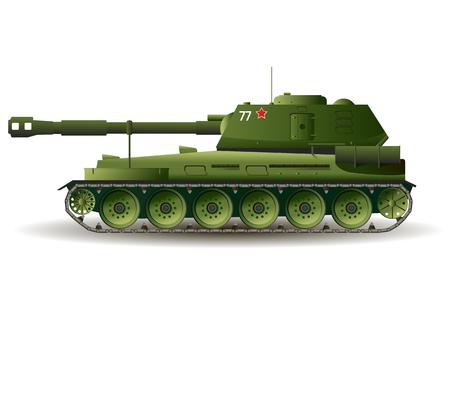 Military Tank.Vector illustration war kill army