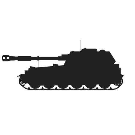 Military Tank.Vector illustration war kill army