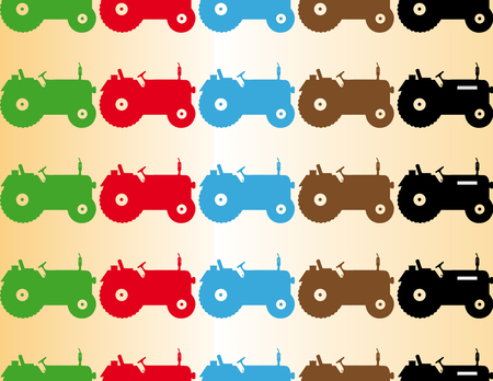 color seamless patern tractor cultivate