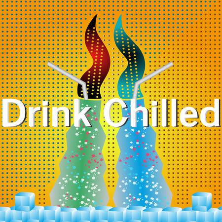 drink chilled soda food glass  イラスト・ベクター素材