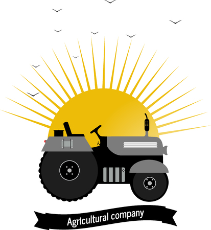 logo tractor,agricultural company work farmer