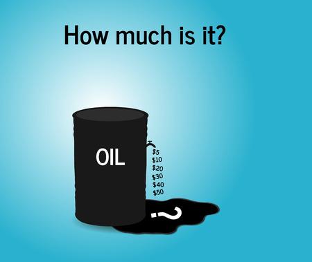 Iron barrel of oil. Vector illustration black