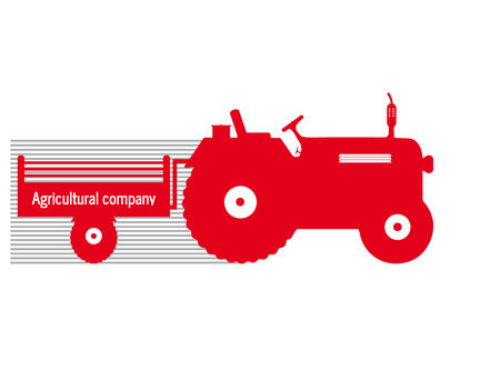 logo tractor agricultural company cultivate Çizim