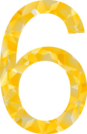 Abstract figure,number. Vector illustration style tape sign