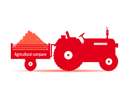 logo tractor agricultural company red Çizim
