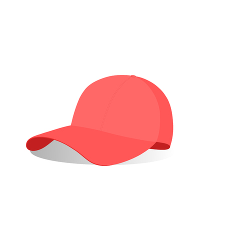 A red baseball cap vector illustration seam   イラスト・ベクター素材