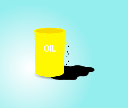 Iron barrel of oil.Vector illustration