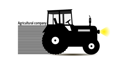 logo tractor agricultural company farm land work