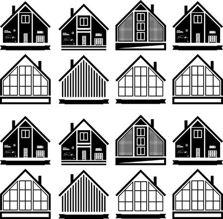 The logo of the house.Vector illustration emblem modern Illustration