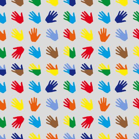 seamless pattern brush human wrist