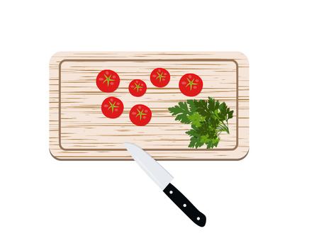Wooden Board for cutting food vector cut