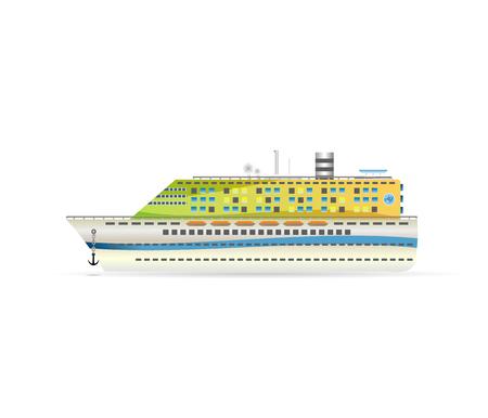 A cruise liner. Vector illustration logo boat Logo