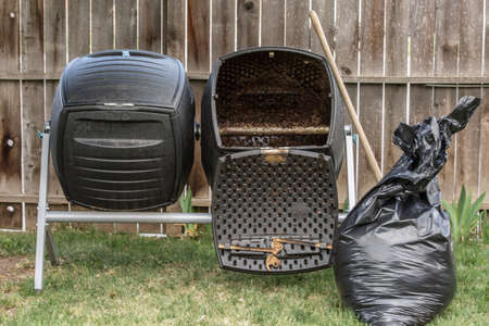 Backyard Composter with tools