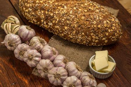 Garlic Bread and Butter Reklamní fotografie