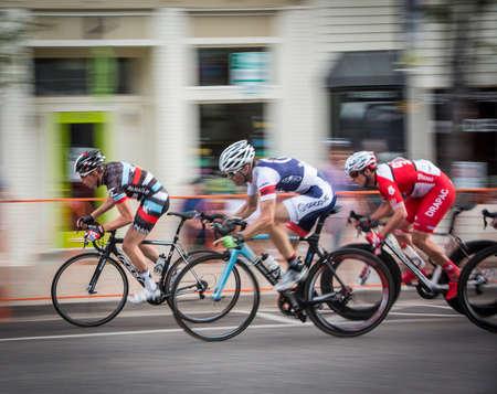panning: Professional Bike racers panning shot