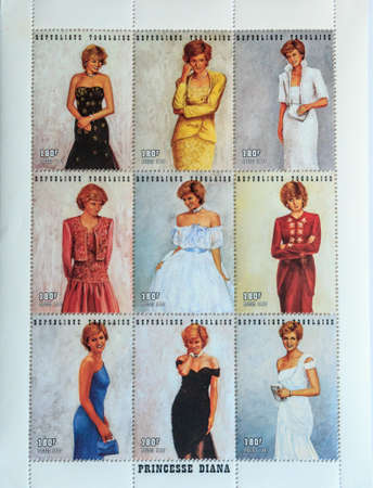 postage: Princess Diana Postage stamps Editorial