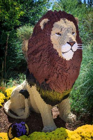 Lion made of bricks