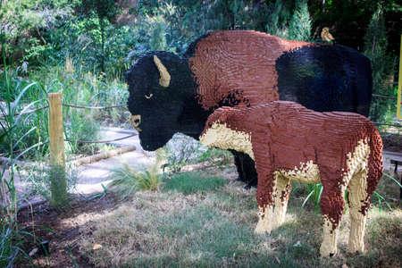 Buffalos made with Legos