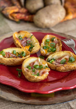 happyhour: Potato Skins Stock Photo