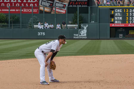 baseman: Baseball player Nolan Arenado Editorial