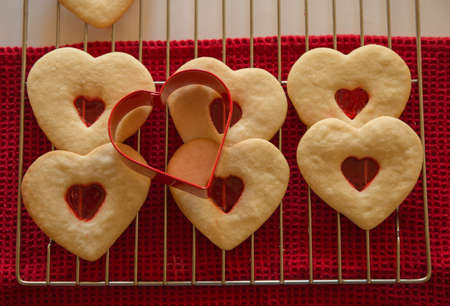 Heart-shaped cookies Stock fotó - 73338377