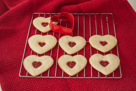 Heart-shaped Cookies Stock fotó - 71470744