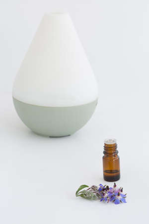 Aroma Therapy Diffuser with essential oils Stock Photo