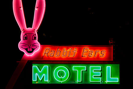 Rabbit Ears Motel sign Stock Photo - 85227663