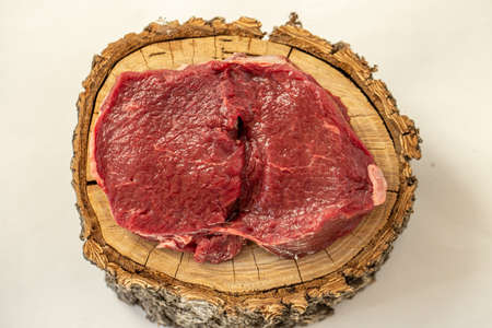 Raw Elk steak Reklamní fotografie