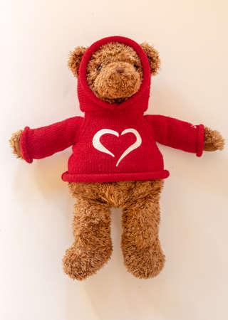 standing valentine's day bear