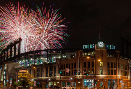 Fireworks Celebration at Coors Field