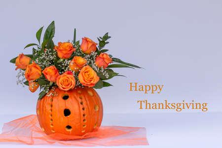 Happy Thanksgiving flowers Reklamní fotografie