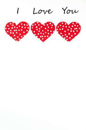 I Love You with red hearts Reklamní fotografie