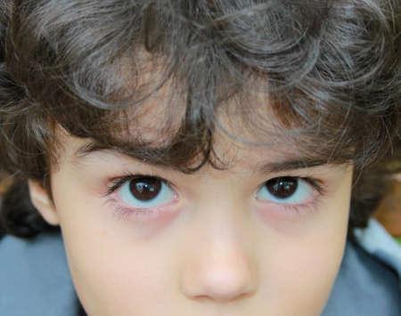 Charming children  s eyes photo