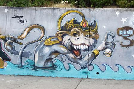 Street graffiti world outside