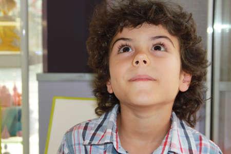 Close portrait of a beautiful boy photo